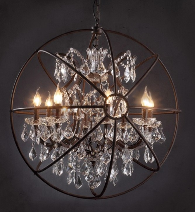 Подвесная люстра LOFT IT LOFT1897/6 Foucaults orb crystal